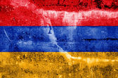 Armenia Flag painted on grunge wall — Stock Photo