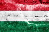 Grunge duvara boyalı macaristan bayrağı — Stok fotoğraf