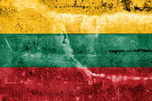 Lithuania Flag painted on grunge wall — Stock Photo