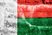 Madagascar Flag painted on grunge wall — Stock fotografie