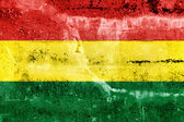 Bolivia Flag painted on grunge wall — Stock Photo