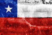 Chile Flag painted on grunge wall — Stock Photo
