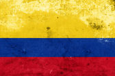 Grunge Colombia Flag — Stock Photo