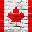 Canada Flag painted on old brick wall — Stock Photo #32482233