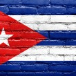 Cuba Flag painted on old brick wall — Stock Photo #32482397
