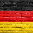 Germany Flag painted on old brick wall — Stock Photo #32482633
