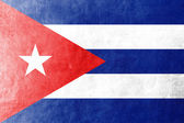Cuba Flag on leather texture or background — Stock Photo