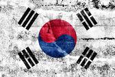 Zuid-korea vlag geschilderd op grunge muur — Stockfoto