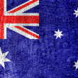 Australia Flag painted on luxury crocodile texture — Stock Photo