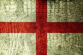 England Flag painted on luxury crocodile texture — Stock Photo