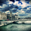 Clouds in Paris, France — Stock Photo
