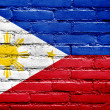 Stock Photo: Philippines Flag painted on brick wall