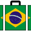 Suitcase with Brazil Flag — Stock Photo #35234523