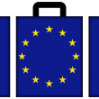 Stock Photo: Suitcase with EU Flag