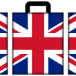 Suitcase with UK Flag — Stock Photo #35234539