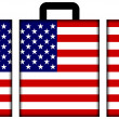 Stock Photo: Suitcase with USFlag