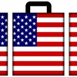 Suitcase with USFlag — Stock Photo #35234543