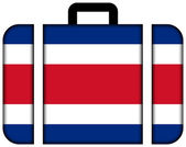 Suitcase with Costa Rica Flag — Stock Photo