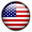 USA Flag glossy button — Stockfoto