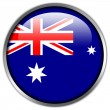 Stock Photo: AustraliFlag glossy button