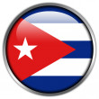 Cuba Flag glossy button — Stock Photo