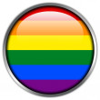 Rainbow Flag glossy button — Stock Photo
