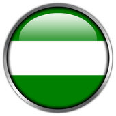 Rotterdam City Flag glossy button — Стоковое фото