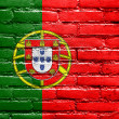 Portugal Flag painted on brick wall — Foto de Stock