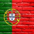 Portugal Flag painted on brick wall — Zdjęcie stockowe #38295009
