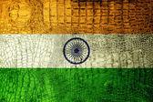 India Flag painted on luxury crocodile texture — Stock Photo