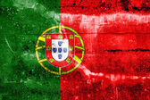 Portugal Flag painted on grunge wall — Stock Photo