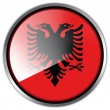 Stock Photo: AlbaniFlag glossy button