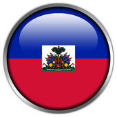 Haiti Flag glossy button — Stock Photo