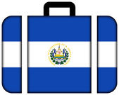 Suitcase with El Salvador Flag — Stock Photo