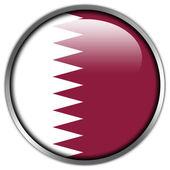 Qatar Flag glossy button — Stock Photo