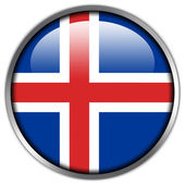 Iceland Flag glossy button — Stock Photo