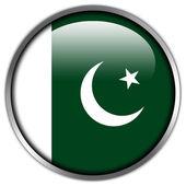 Pakistan Flag glossy button — Stock Photo