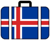 Suitcase with Iceland Flag — Stock Photo