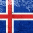 Stock Photo: Grunge Iceland Flag