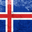 Grunge Iceland Flag — Stock Photo