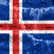Stock Photo: Iceland Flag painted on grunge wall