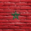Stock Photo: Morocco Flag painted on brick wall