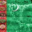 Stock Photo: TurkmenistFlag painted on grunge wall