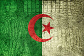 Флаг Алжира на роскошь крокодил текстуры — Стоковое фото