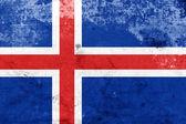 Grunge Iceland Flag — Stock Photo