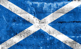Scotland Flag painted on grunge wall — Foto Stock