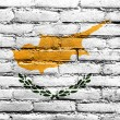 Stock Photo: Cyprus Flag painted on brick wall