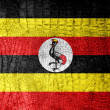 Stock Photo: UgandFlag painted on luxury crocodile texture