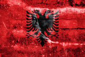 Albania Flag painted on grunge wall — Стоковое фото