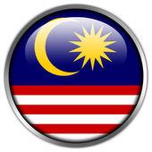 Malaysia Flag glossy button — Stock Photo